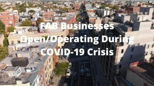 Open and Operating Businesses During COVID19 Crisis