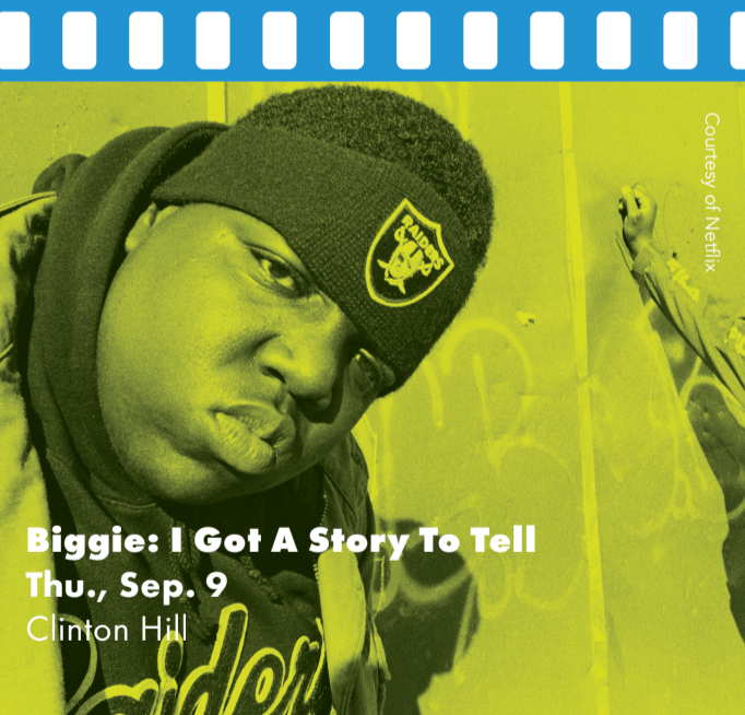 Hip hop artist Biggie in a photo with friend.